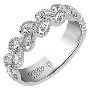 Emmy London Platinum 0.12 Carat Diamond Ring - Product number 5270405