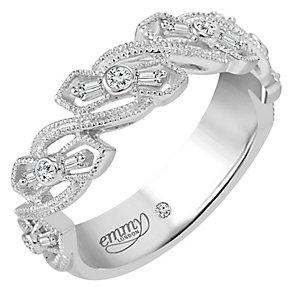 Emmy London Palladium 0.12 Carat Diamond Ring - Product number 5270677