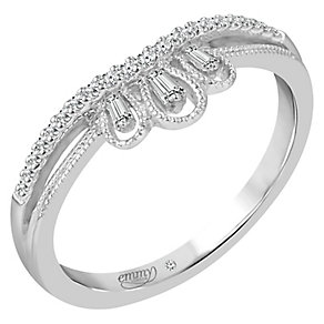 Emmy London Platinum 0.12 Carat Diamond Ring - Product number 5271207