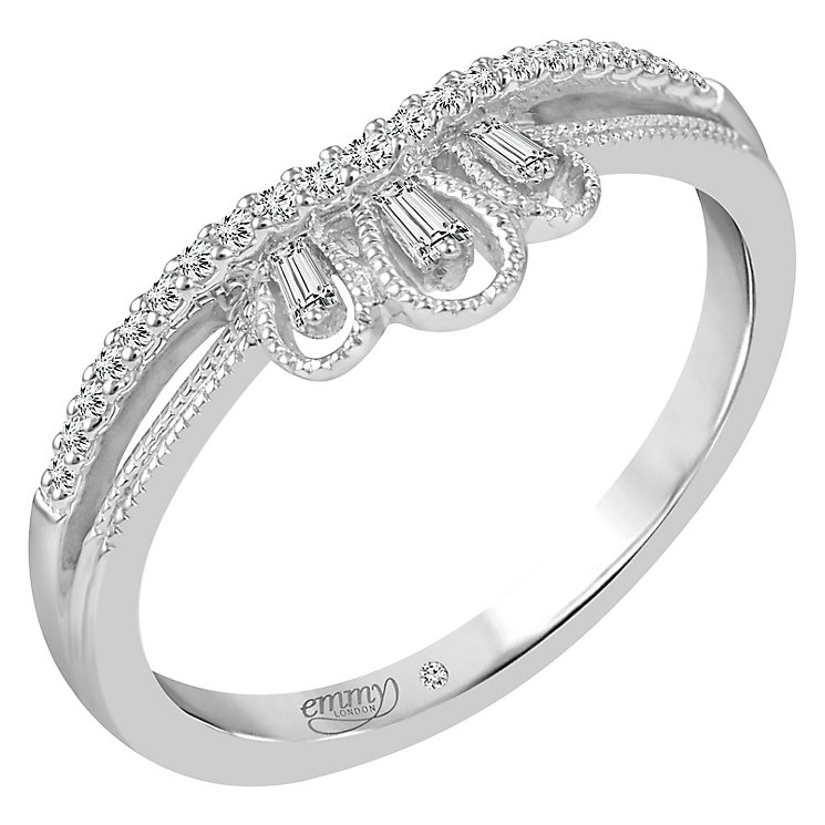 Emmy London 18ct White Gold 0.12 Carat Diamond Ring - Product number 5271339