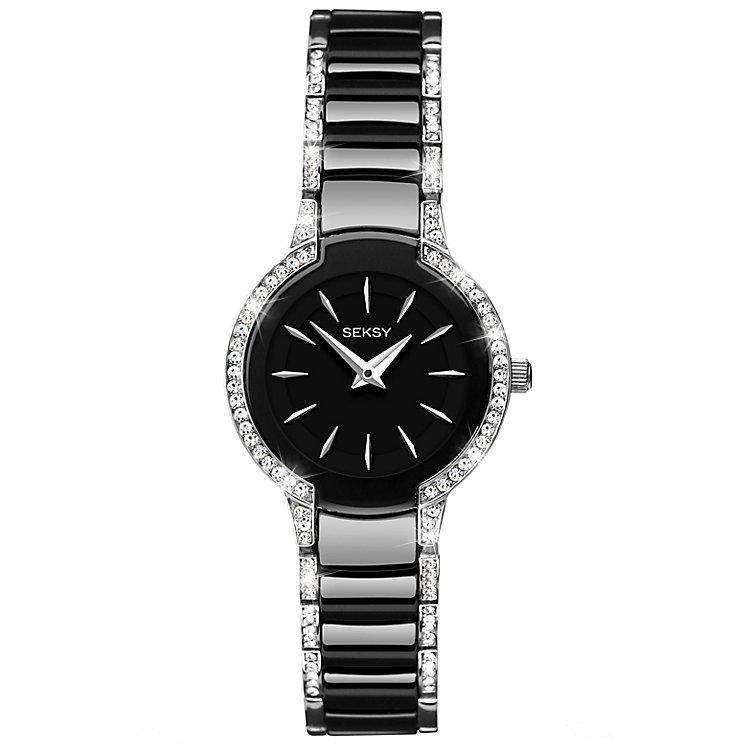 Seksy Ladies' Entice Swarovski Black Ceramic Watch - Product number 5272424
