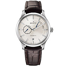 Zenith Elite Power Reserve Men's Stainless Steel Strap Watch - Product number 5275652
