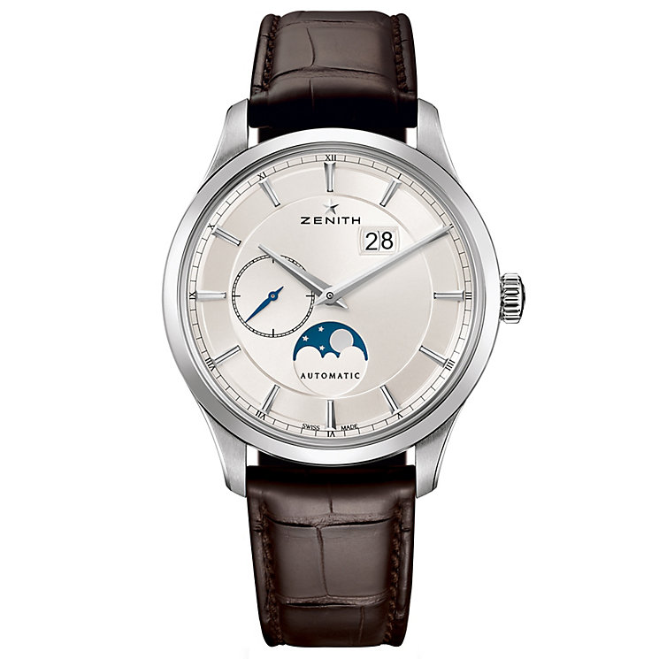 Zenith Elite Moonphase Men's Stainless Steel Strap Watch - Product number 5275660