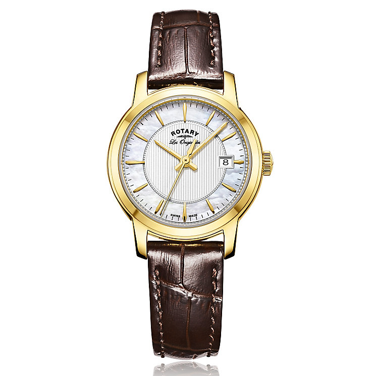 Rotary Ladies' Black Leather Strap Watch - Product number 5276845