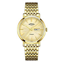 Rotary Gents Gold Plated Stainless Steel Bracelet Watch - Product number 5276918