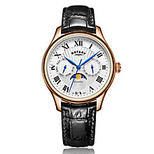 Rotary Gents Black Leather Strap Watch - Product number 5277043