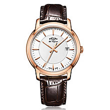 Rotary Gent's Brown Leather Strap Watch - Product number 5277078