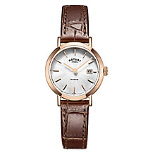 Rotary Gents Brown Leather Strap Watch - Product number 5277086