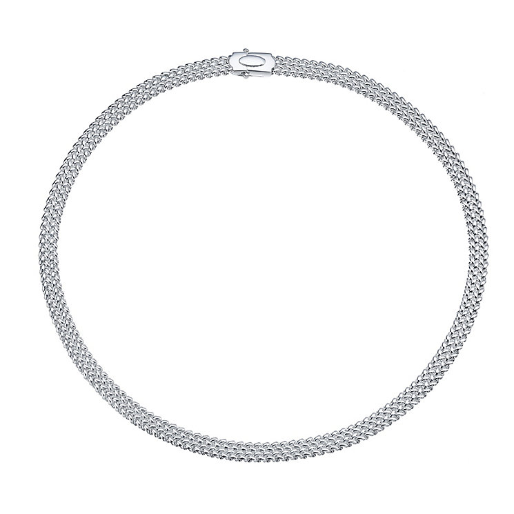 Sterling Silver Woven Necklace - Product number 5277329