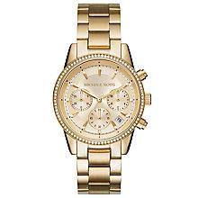 Michael Kors Ladies' Gold Tone Bracelet Watch - Product number 5278406