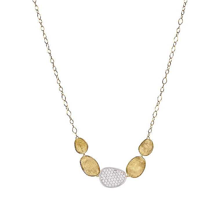 Marco Bicego 18ct Yellow Gold Lunaria 67pt Diamond Necklace - Product number 5279798
