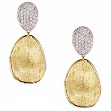 Marco Bicego 18ct Yellow Gold Lunaria 0.07ct Diamond Earring - Product number 5279801
