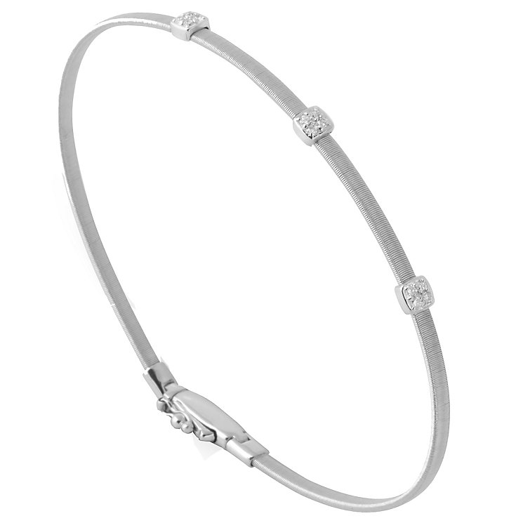 Marco Bicego 18ct White Gold Masai 9pt Diamond Bangle - Product number 5279828