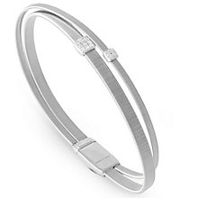 Marco Bicego 18ct White Gold Masai 0.1ct Diamond Bangle - Product number 5279852