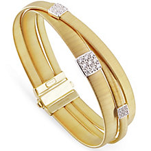 Marco Bicego 18ct Yellow Gold Masai 43pt Diamond Bangle - Product number 5279860
