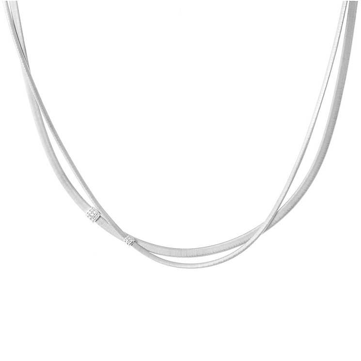 Marco Bicego 18ct White Gold Masai 0.1ct Diamond Necklace - Product number 5279887
