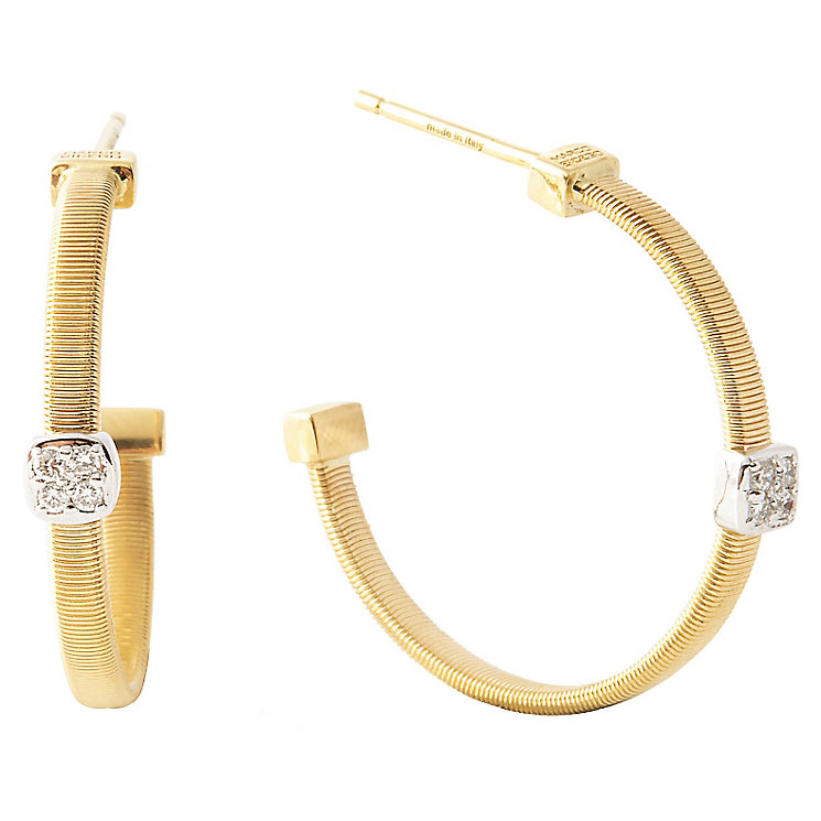 Click here for Marco Bicego 18ct Yellow Gold Masai 6pt Diamond Earring prices