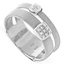 Marco Bicego 18ct White Gold Masai 0.06ct Diamond Ring - Product number 5280060