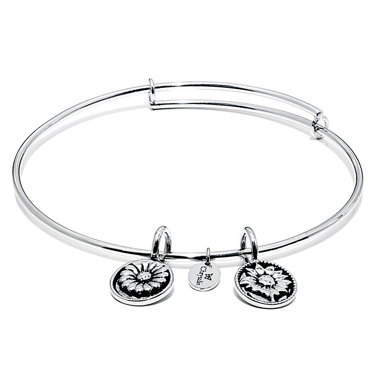 Chrysalis Rhodium plated Believe Bangle - Product number 5282012