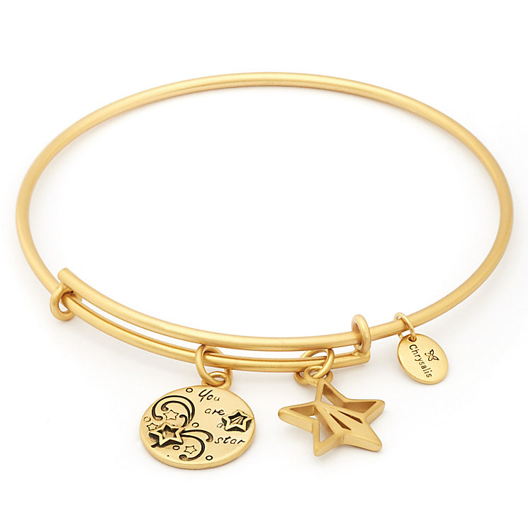 Chrysalis Yellow Gold Plated You're A Star Bangle - Product number 5282098