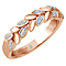 Emmy London 18ct Gold 0.10 Carat Diamond Set Ring - Product number 5283337