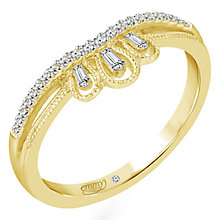 Emmy London 18ct Yellow Gold 0.12 Carat Diamond Ring - Product number 5283531