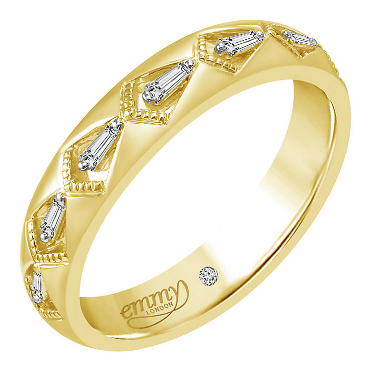Emmy London 18ct Yellow Gold 0.10ct Diamond Ring - Product number 5283930