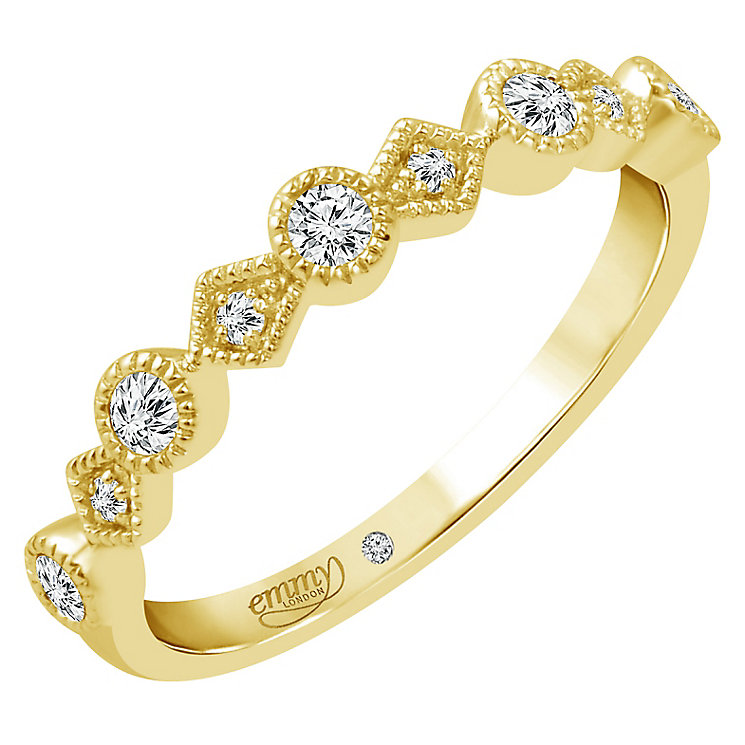 Emmy London 18ct Gold 0.15 Carat Diamond Eternity Ring - Product number 5284201