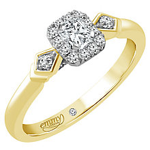 Emmy London 18ct Gold 1/3 Carat Diamond Solitaire Ring - Product number 5284333