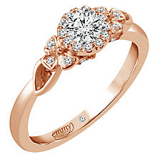 Emmy London 18ct Rose Gold 1/3 Carat Diamond Solitaire Ring - Product number 5286298