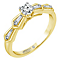 Emmy London 18ct Yellow Gold 2/5ct Diamond Solitiare Ring - Product number 5287677