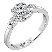 Emmy London Palladium 1/2 Carat Diamond Solitaire Ring - Product number 5288061