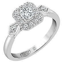 Emmy London Palladium 2/3 Carat Diamond Solitaire Ring - Product number 5288215