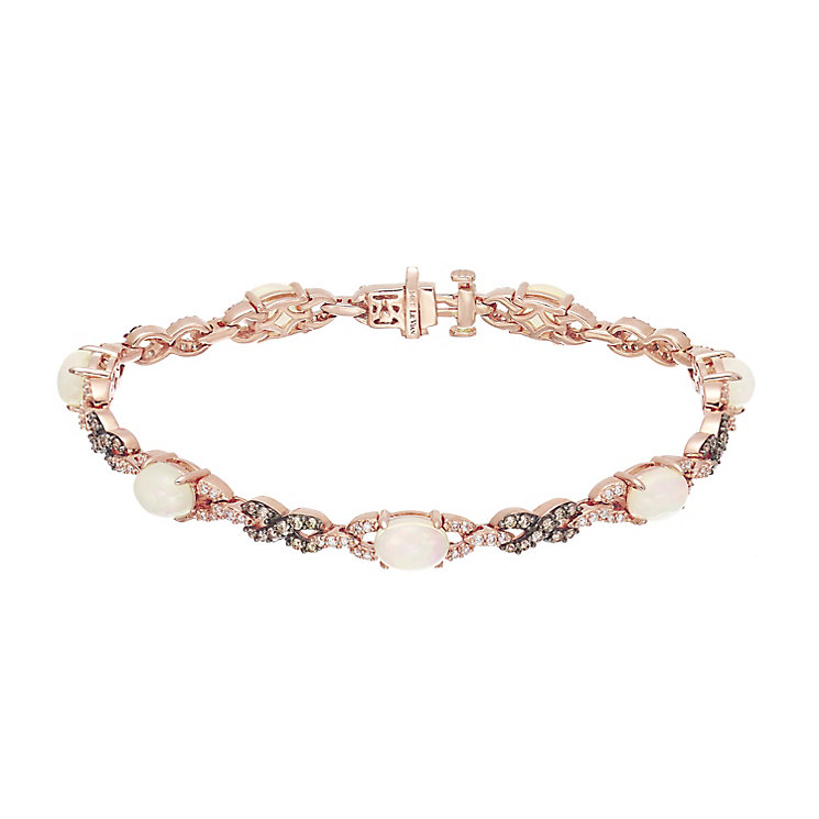 Le Vian 14ct Strawberry Gold Opal & Diamond Bracelet - Product number 5289033