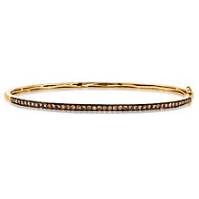 Le Vian 14ct Honey Gold Chocolate Diamond Bangle - Product number 5289041
