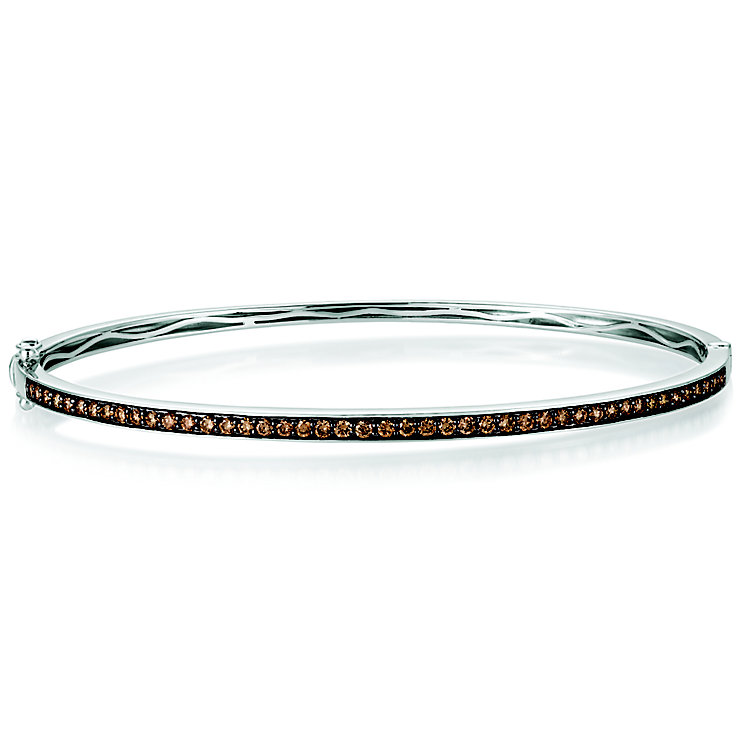 Le Vian 14ct Vanilla Gold Chocolate Diamond Bangle - Product number 5289068