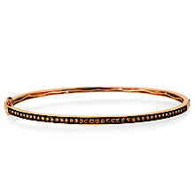Le Vian 14ct Strawberry Gold Chocolate Diamond Bangle - Product number 5289076