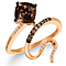 Le Vian 14ct Strawberry Gold Chocolate Quartz Ring - Product number 5289092