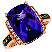 Le Vian 14ct Strawberry Gold Amethyst & Diamond Ring - Product number 5289106