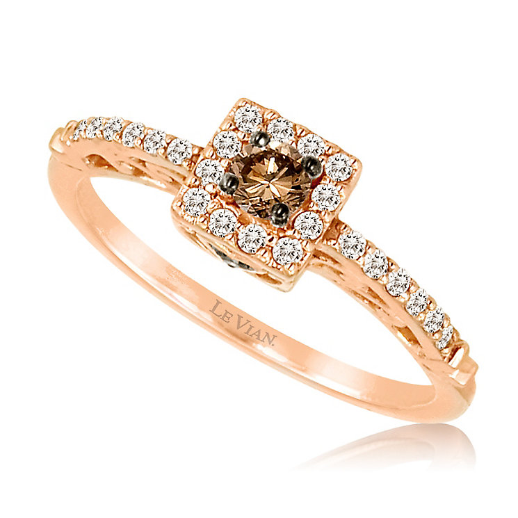 Le Vian 14ct Strawberry Gold Chocolate Diamond Ring - Product number 5289157