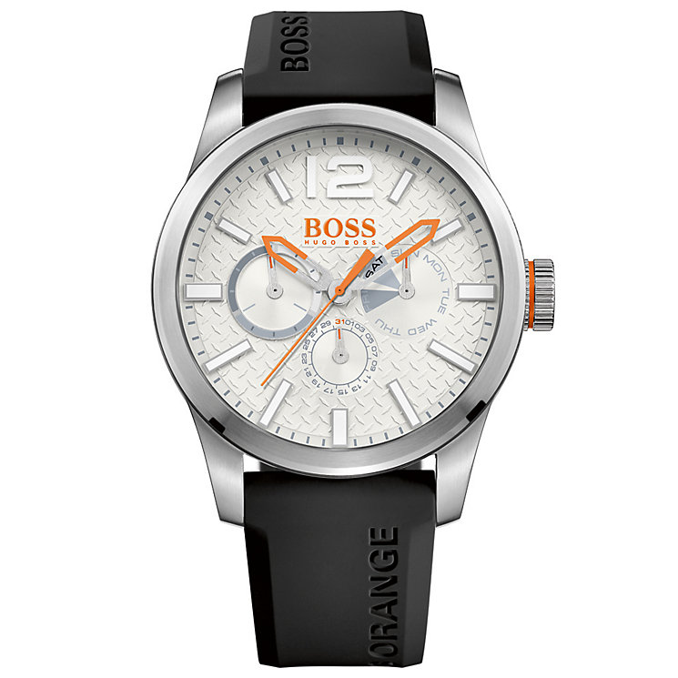 Boss Orange Paris Gents' Black Silicone Watch - Product number 5291577