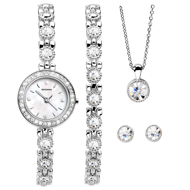 Sekonda Ladies' Bracelet Watch, Bracelet, Pendant & Earrings - Product number 5291682