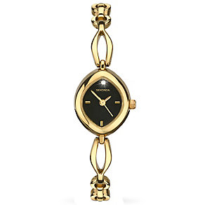 Sekonda Ladies' Black Dial Gold-Plated Bracelet Watch - Product number 5291720