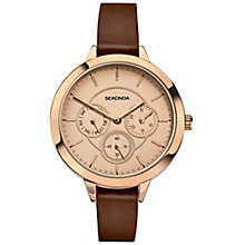 Sekonda Editions Ladies' Brown Leather Strap Watch - Product number 5291836