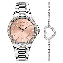 Sekonda Seksy Ladies' Steel Bracelet Watch & Bracelet Set - Product number 5291879