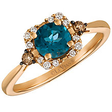 Le Vian 14ct Rose Gold London Blue Topaz and Diamond Ring - Product number 5291941