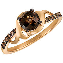 14ct Strawberry Gold™ Chocolate Quartz™ and Diamond Ring - Product number 5292239