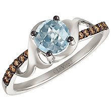 Le Vian 14ct White Gold Topaz and Chocolate Diamond Ring - Product number 5292506