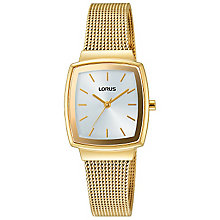 Lorus Ladies' Tonneau Dial Gold-Plated Mesh Bracelet Watch - Product number 5292808