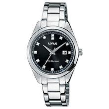 Lorus Ladies' Stone Set Stainless Steel Bracelet Watch - Product number 5292832